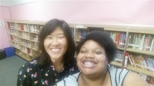 The Library Team, Ms. Ahn and Miss Melissa