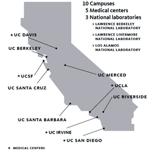 Universities And Colleges In California Map.College And Career Center Universities Of California Uc