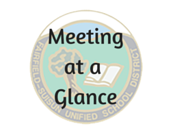 Meeting at a Glance
