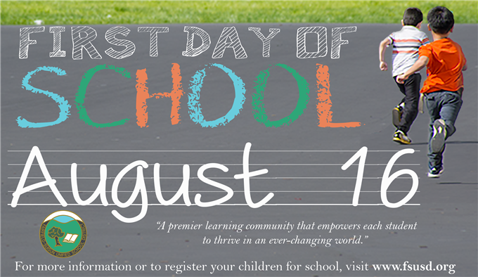 First Day of School is August 16, 2017.