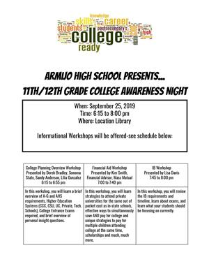 College Awareness Night