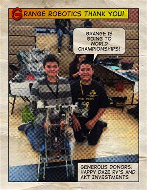 Robotics Thank You to Donors